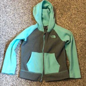 Girls Glacier zip up sweatshirt